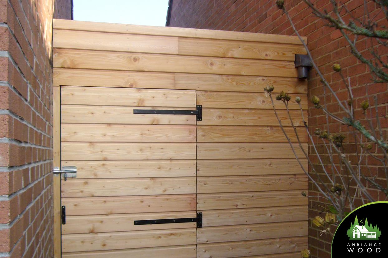 ambiance wood charpentier 59 nord abris porte sur mesure