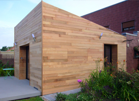 Bardage Red Cedar sur une extension de 45m²