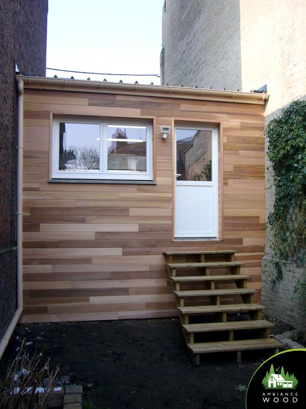 ambiance wood charpentier 59 nord bardage red cedar garage 20m2 saint andre 59350