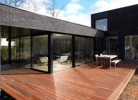 Terrasse de 80m² en IPE