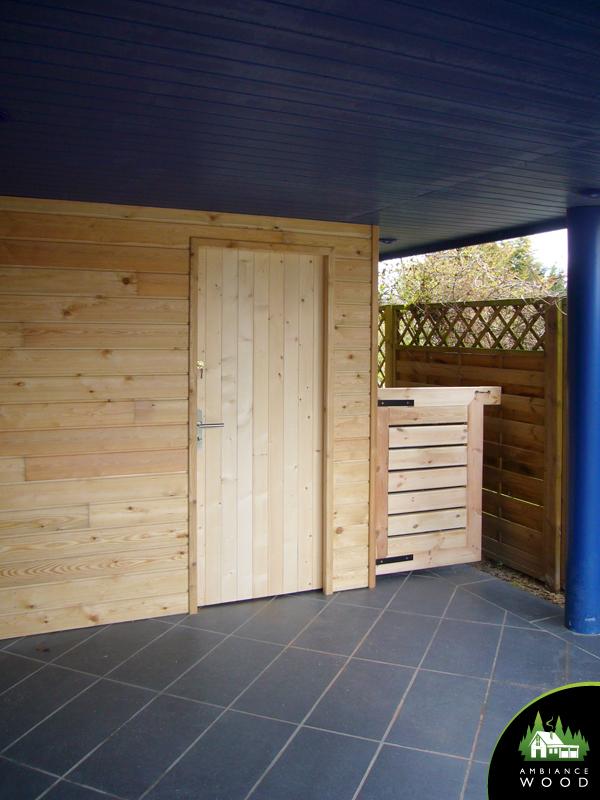ambiance wood charpentier 59 nord abris sur mesure porte pin