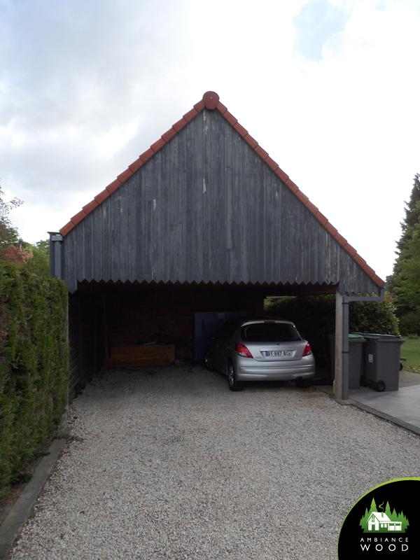 ambiance wood charpentier 59 nord bardage pignon red cedar baisieux 59780