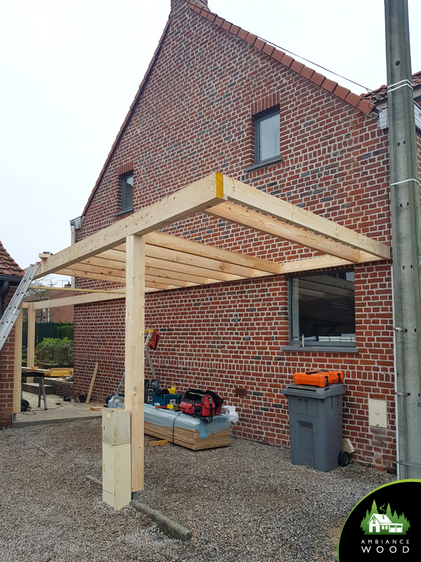 ambiance wood charpentier 59 nord carport 27m2 chereng 59152