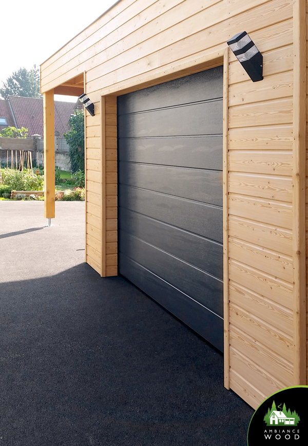 ambiance wood charpentier 59 nord carport 55m2 bardage meleze