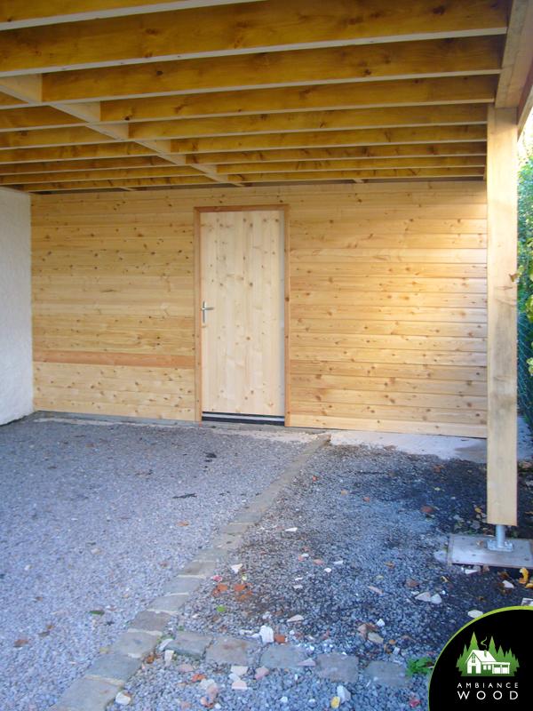 ambiance wood charpentier 59 nord carport 65m2 bardage zinc anthracite baisieux 59780