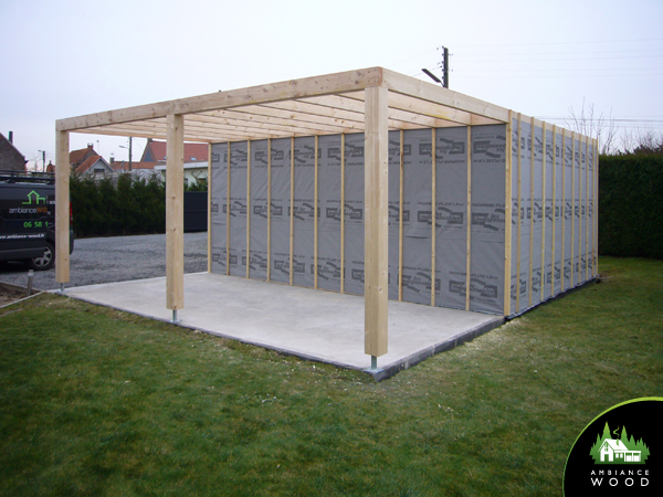 ambiance wood charpentier 59 nord carport garage 45m2