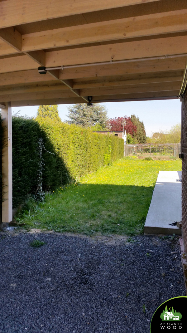 ambiance wood charpentier 59 nord carport 15m2 charpente pin carvin 62220