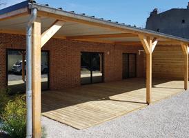 Terrasse en Pin 70m²