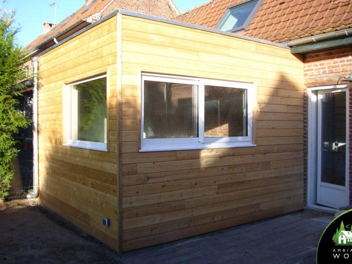 Extension ossature bois 15m²