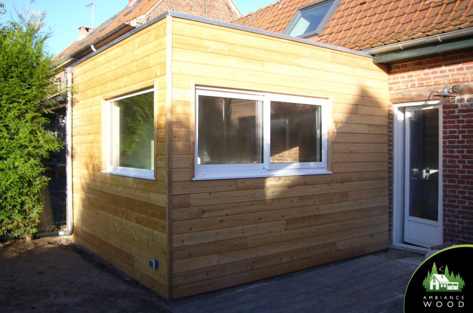 Extension ossature bois 15m² - Ambiance Wood