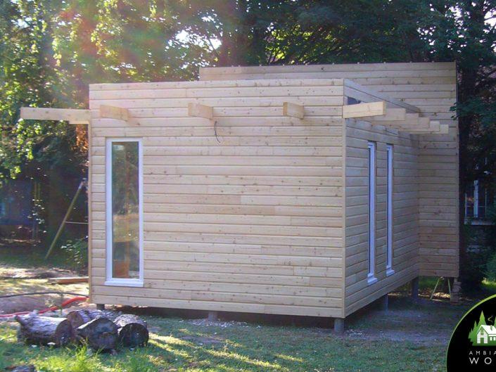 Extension ossature bois 20m²
