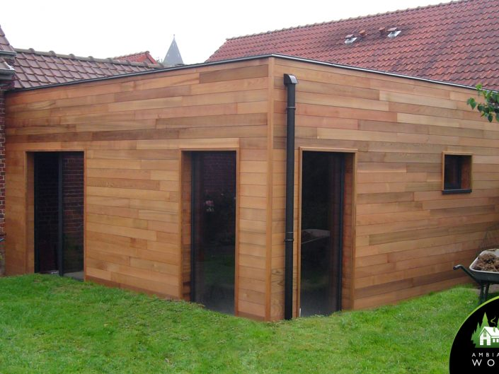 Extension ossature bois 25m²