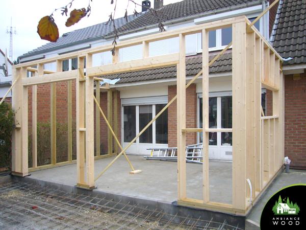 ambiance wood charpentier 59 nord ossature bois extension 25m2 sainghin en melantois 59262