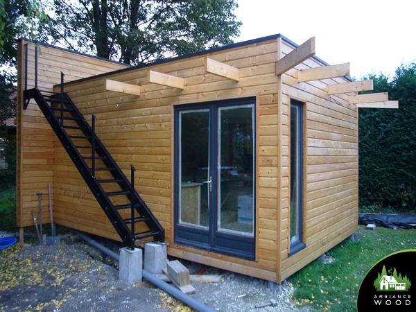 ambiance wood charpentier 59 nord ossature bois extension 28m2 gite lens 62300