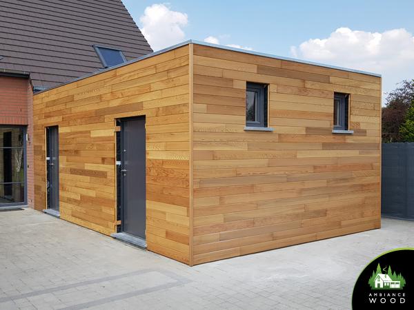 ambiance wood charpentier 59 nord ossature bois extension 33m2 spa blandain 7522 belgique