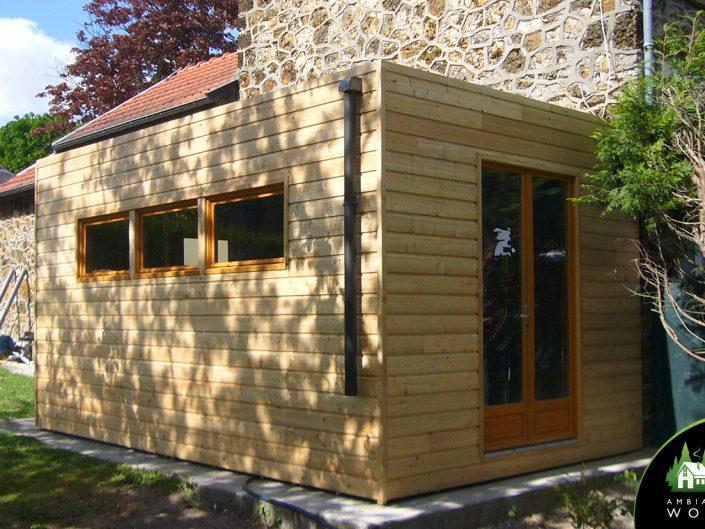 Extension bois pour accueil clients