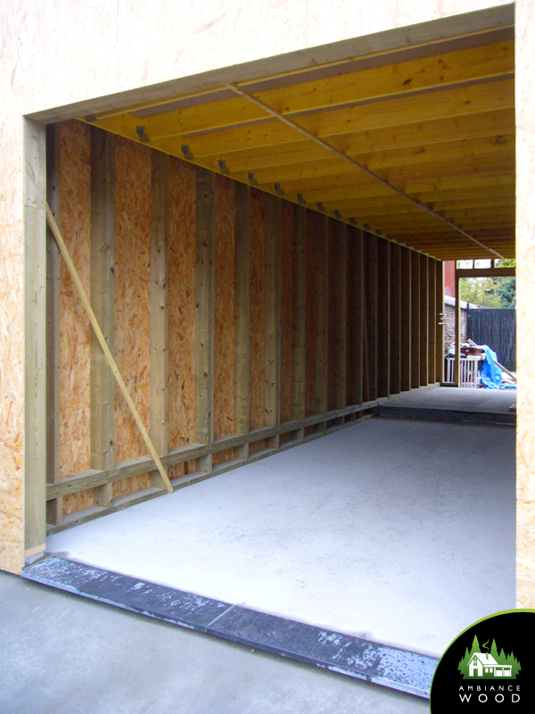 ambiance wood charpentier 59 nord ossature bois garage extension 40m2 evin malmaison 62141