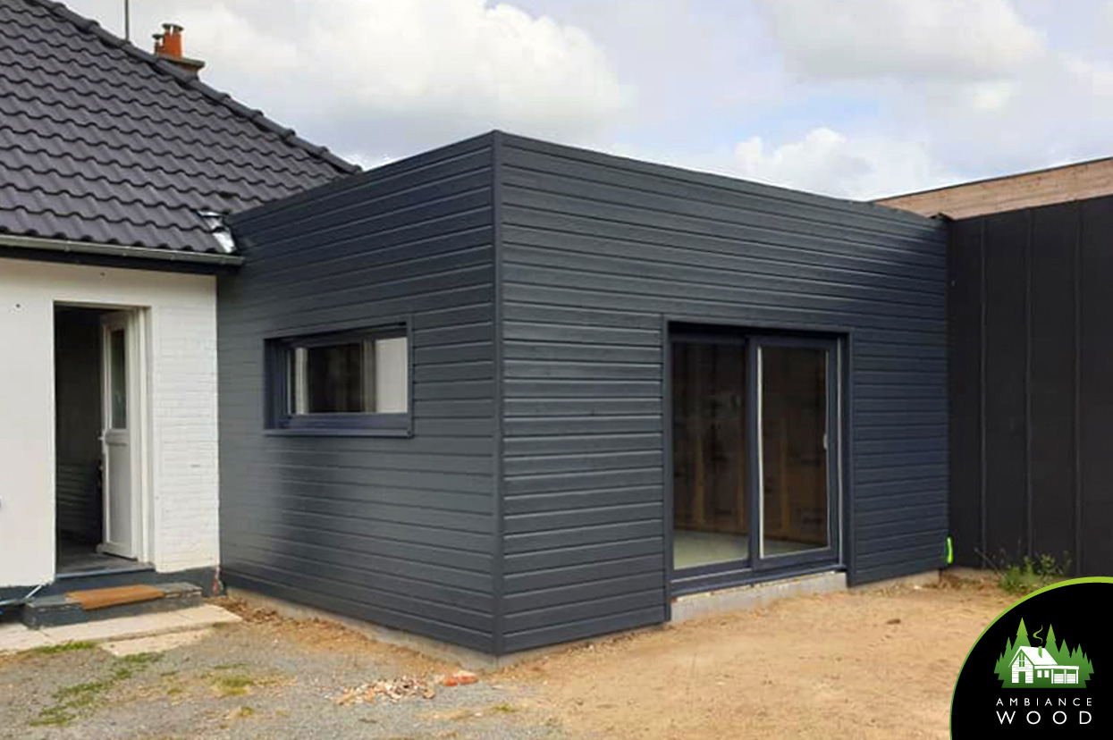 ambiance wood charpentier 59 nord ossature bois bardage extension 25m2 cappelle en pevele 59242