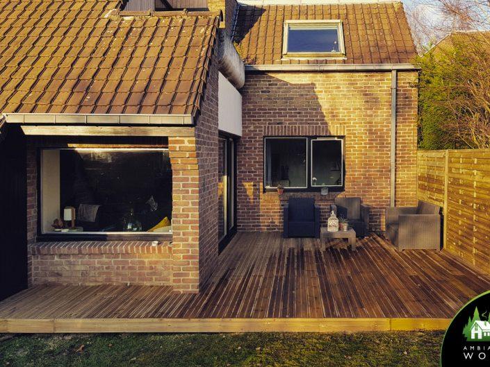 Terrasse en Pin de 22m²